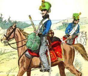Húsares austriacos en Karánsebes
