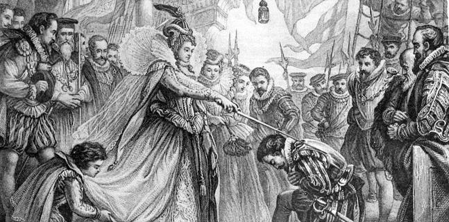 Nombramiento de caballero de Francis Drake - María Pita