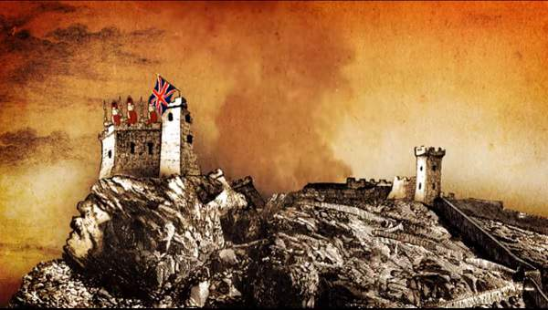castillo de Santa Bárbara - explosión