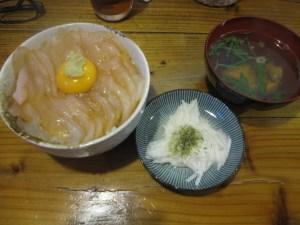 平目漬丼といちご煮