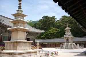 仏国寺の釈迦塔と多宝塔