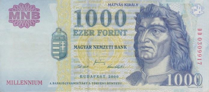 Ungarischer 1000-Forint-Schein