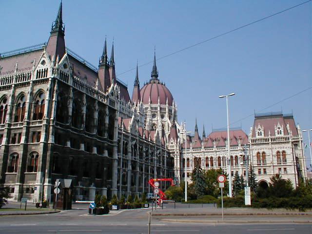 Seitenansicht des Parlamentsgebäudes
