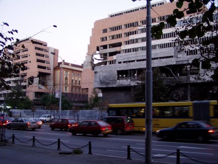 Belgrad: Die Nachbargebäude blieben unbeschädigt, aber...