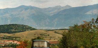Hinein ins Rosental - im Hintergrund das Balkangebirge