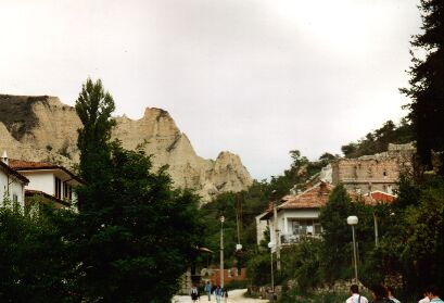 Das Zentrum (bzw. was von übrig blieb) von Melnik