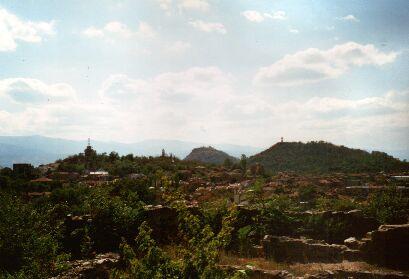 Blick von den Eumolpias-Ruinen auf Plovdiv