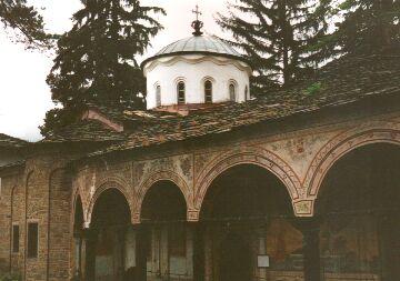 Im Kloster bei Trojan
