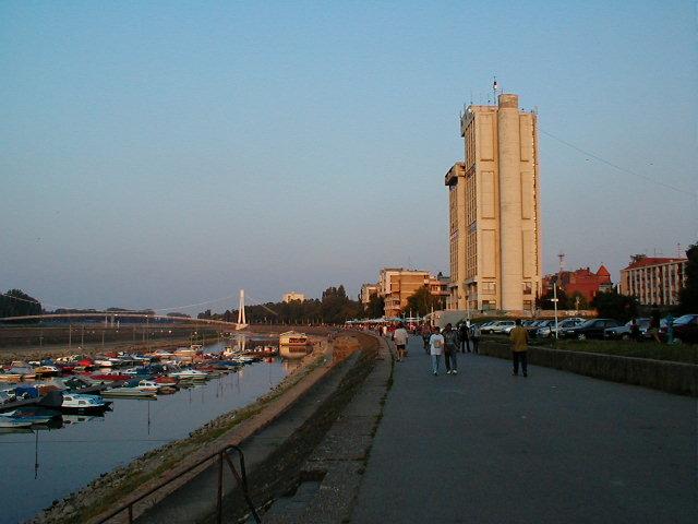 Im Zentrum der Stadt an der Drau