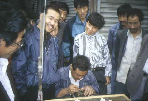 Taiyuan: Stempelmacher bei der Arbeit