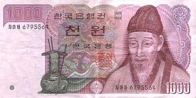 Koreanischer 1000-Won-Schein
