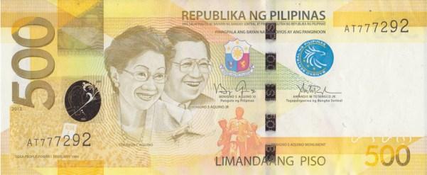 Vorderseite einer 500-Peso-Banknote