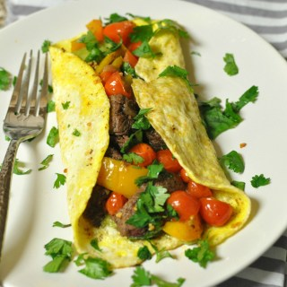 Quick Mexican Steak Omelet