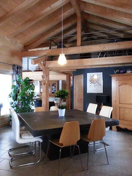 table de cuisine pied central