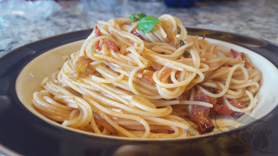 Angel Hair with Tomatoes and Bacon