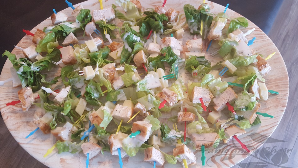Chicken Ceasar Salad Bites