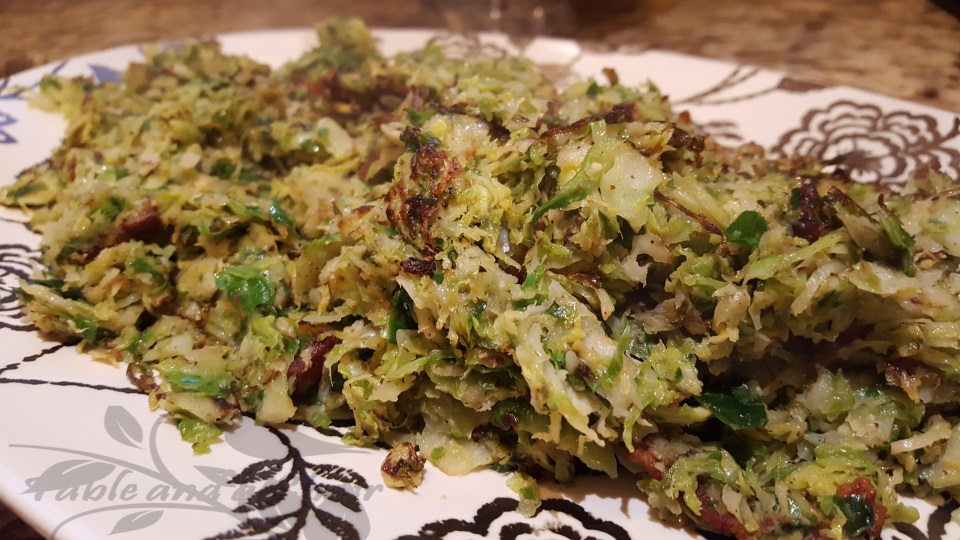 Shaved Brussels Sprouts with Bacon