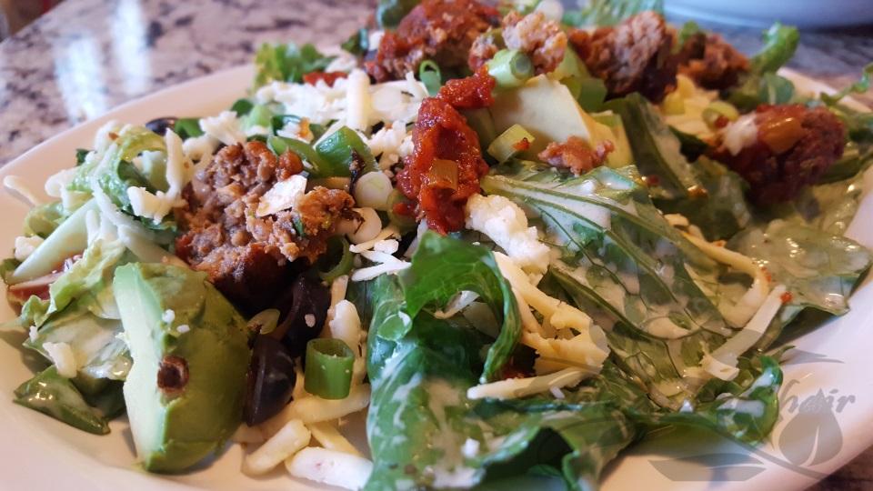 Mexican Meatball Salad