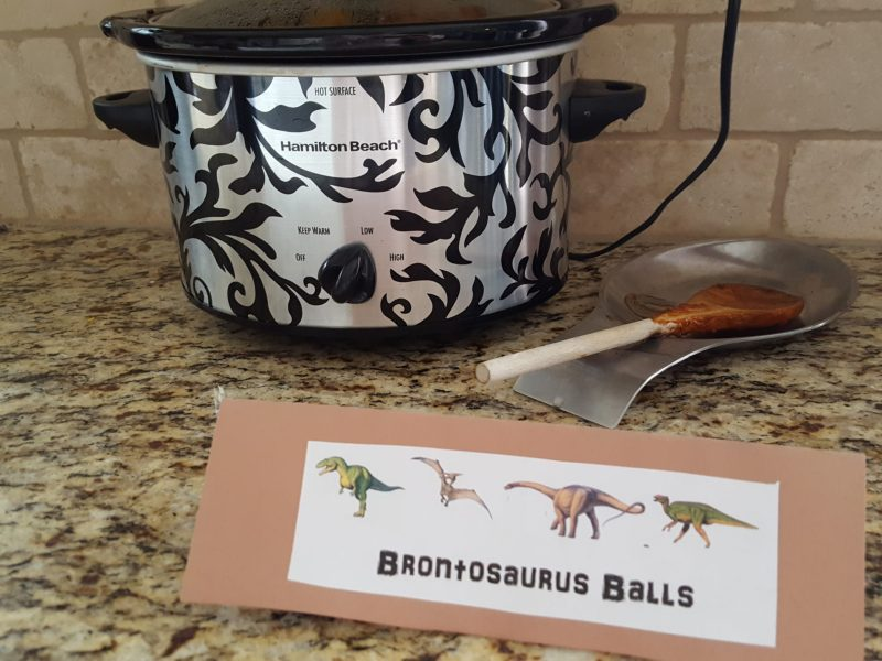 Brontosaurus Balls, Easy food for a dinosaur birthday party.