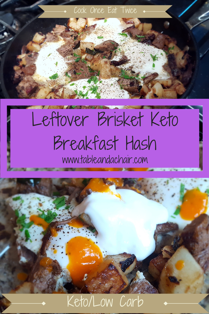 Keto Breakfast Hash Leftover Brisket Table And A Chair