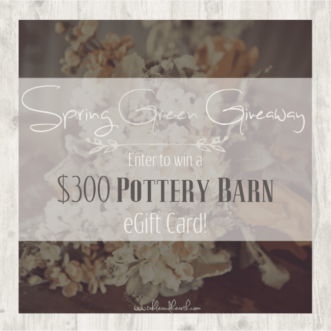 Enter to win a $300 Pottery Barn gift card just in time for spring!