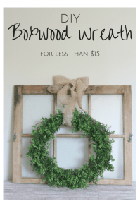 DIY Farmhouse Boxwood Wreath | Table and Hearth