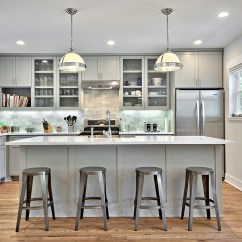 Grey Kitchen Cabinets Old Fashioned Stool With Steps 12 Gorgeous And Bright Light Gray Kitchens Table Hearth A Roundup Of Beautiful