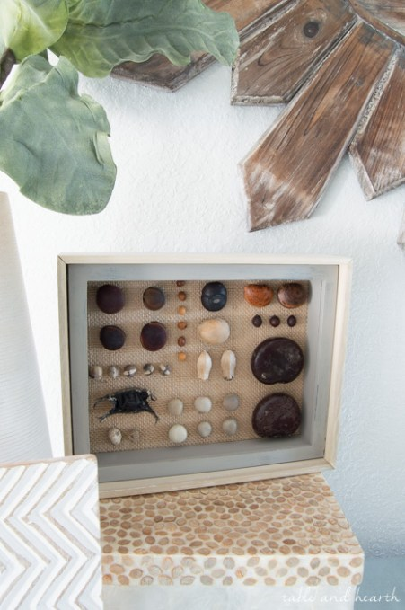 Show off your vacation finds with this Beach Collection Shadowbox! What a beautiful way to display those treasures. #CraftDoOver