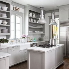 Grey Kitchen Cabinets Best Rated 12 Gorgeous And Bright Light Gray Kitchens Table Hearth A Roundup Of Beautiful
