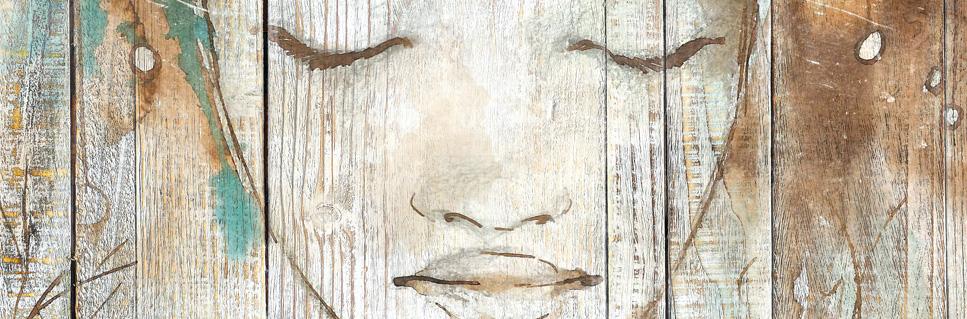 tableau bois palette reve de femme