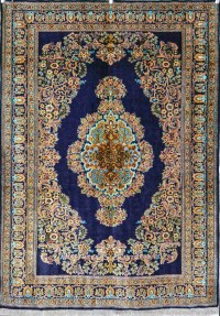 Persian Silk Carpet Qum - Carpet Vidalondon