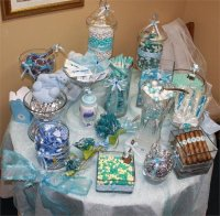 33 Blue Theme Party Candy Table Ideas | Table Decorating Ideas