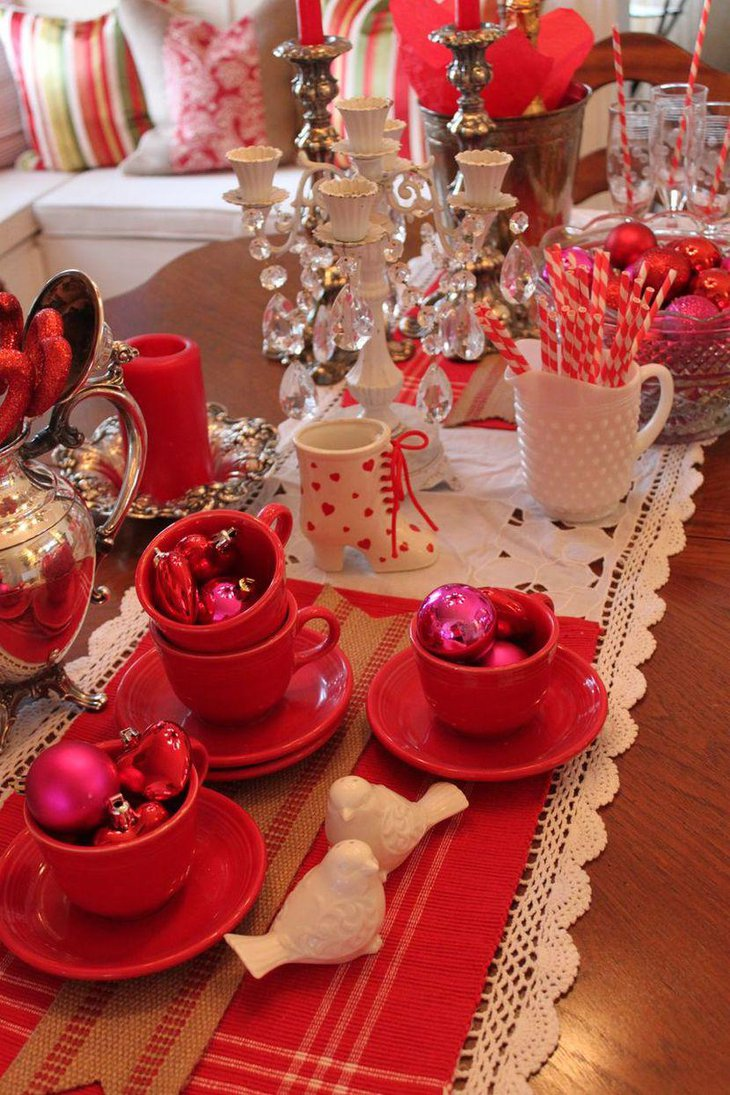 37 Romantic Valentine Table Decorations Table Decorating