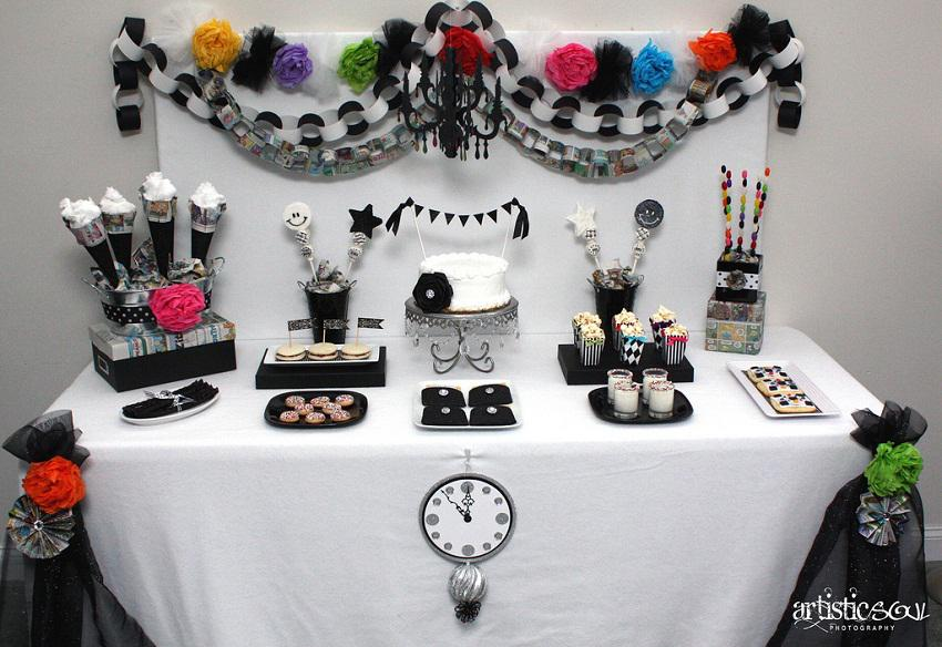 Beautiful Black White And Purple Party Decorations Change To Black