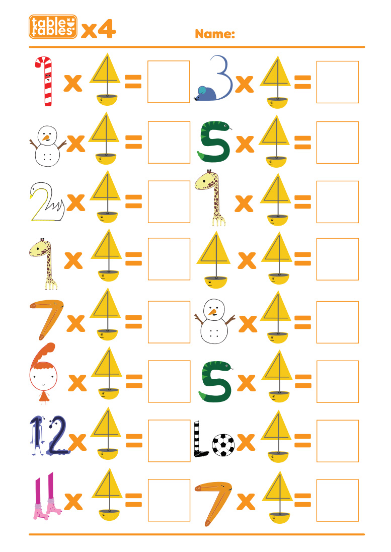 hight resolution of Multiplication Worksheets With Fun Characters To Help Children Learn