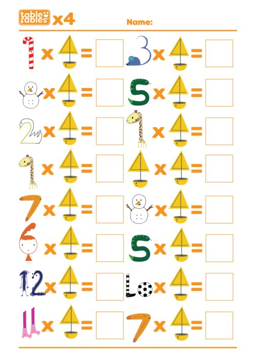 small resolution of Multiplication Worksheets With Fun Characters To Help Children Learn