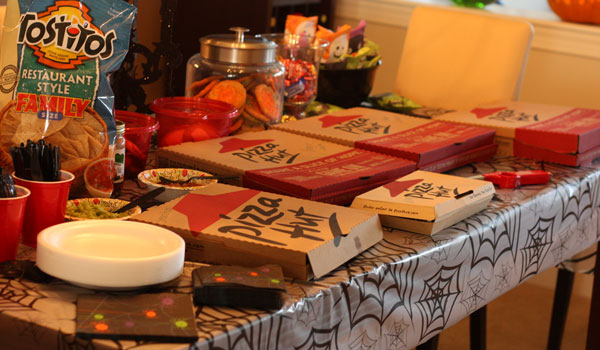 pumpkin carving party  Table for Two by Julie Wampler