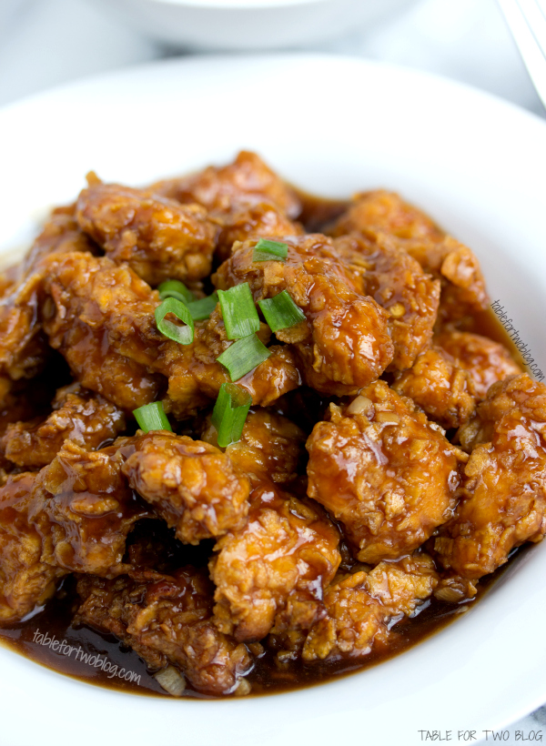 Lightened Up General Tsos Chicken  Table for Two by
