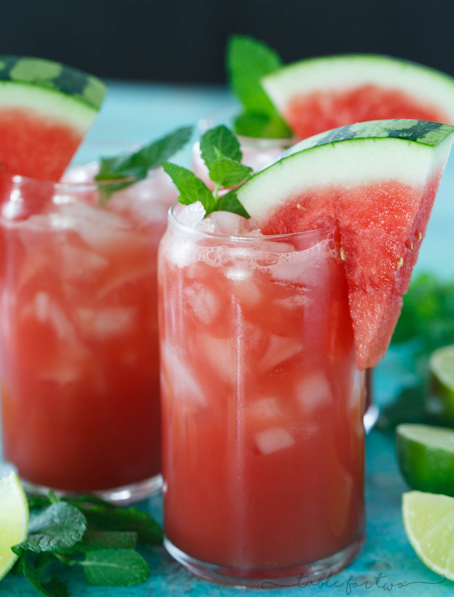 Watermelon Juice With Lime And Mint