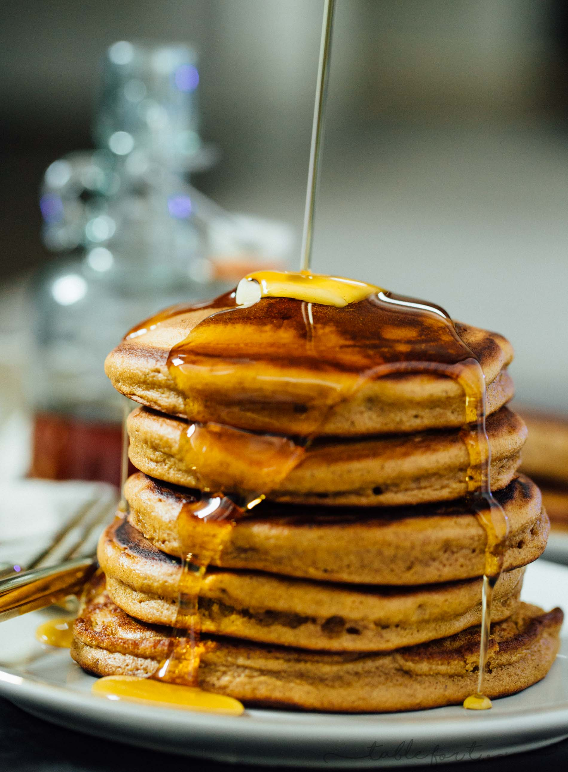 Gingerbread Pancakes  Christmas Morning Breakfast or