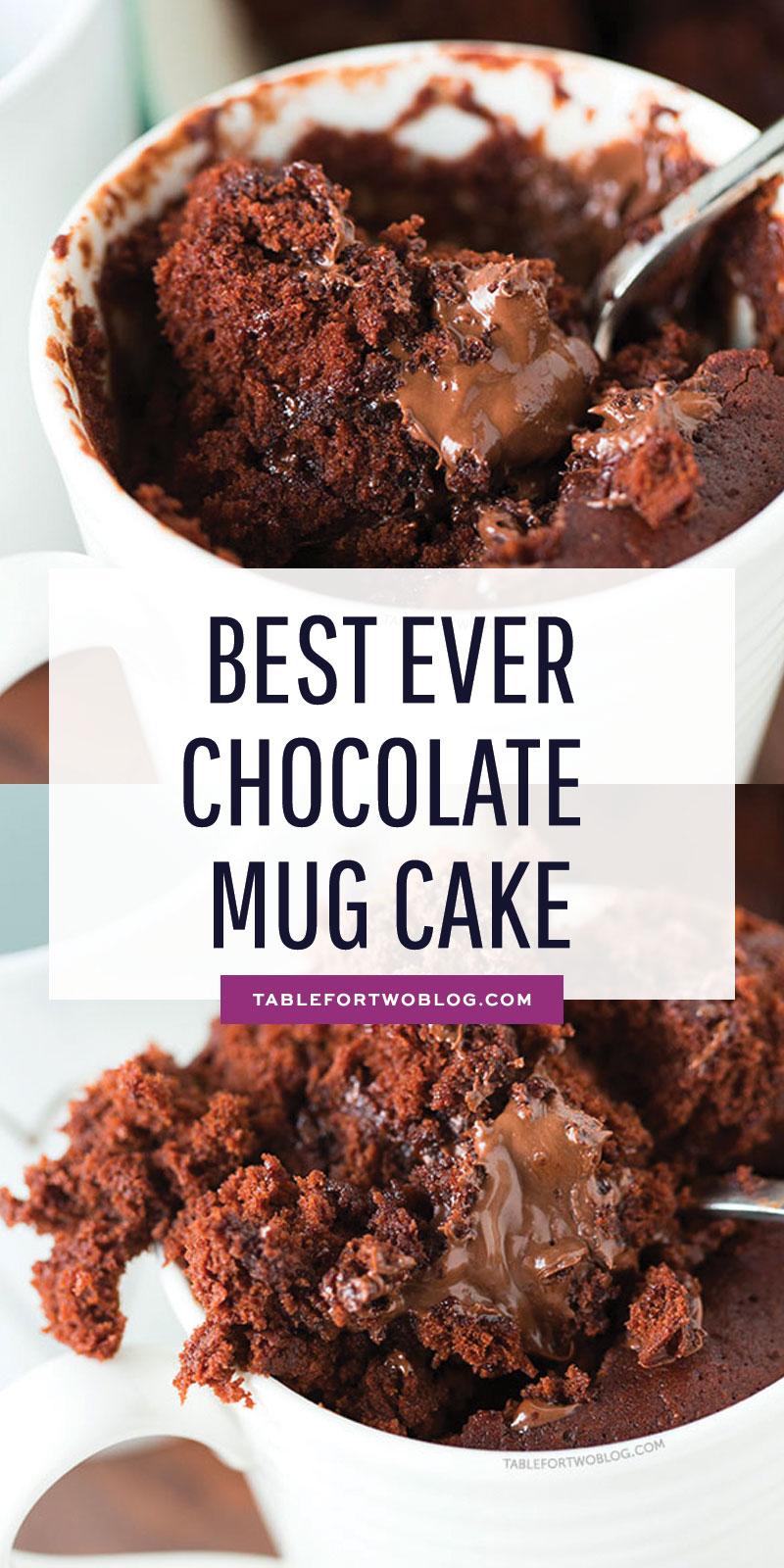 The Moistest Chocolate Mug Cake Mug Cake For One Or Two
