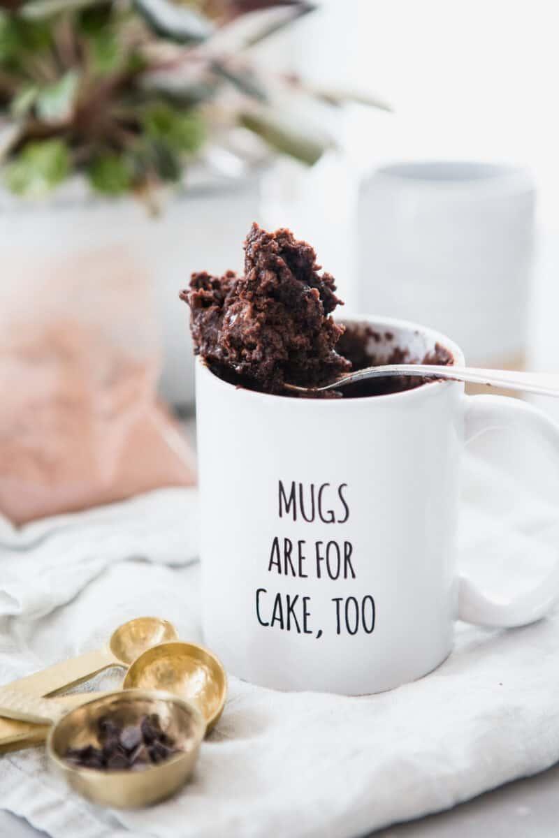 the moistest chocolate mug cake mug