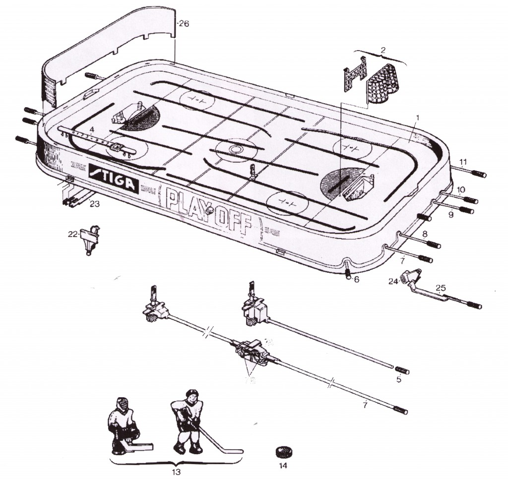 hockey player diagram clipsal telephone jack wiring stiga parts table shop