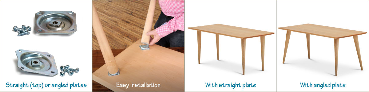 How To Attach Table Legs Without Apron