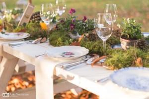 vintage servies borden verhuur bestek glaswerk