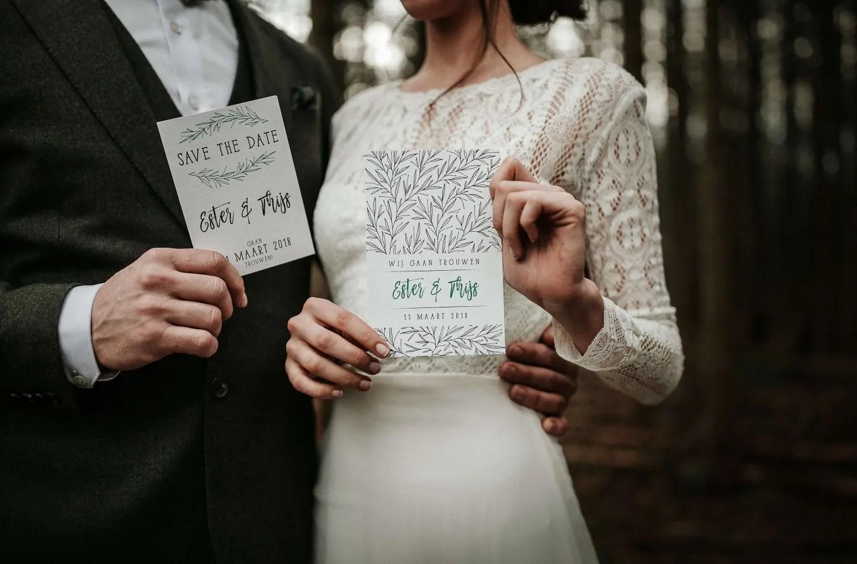 Minimalistische bruiloft minimal wedding stationary styling www.tablemoments.nl
