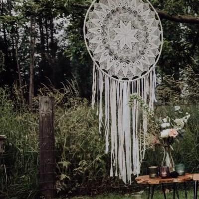 Dromenvanger bruiloft groot wit beide te huur