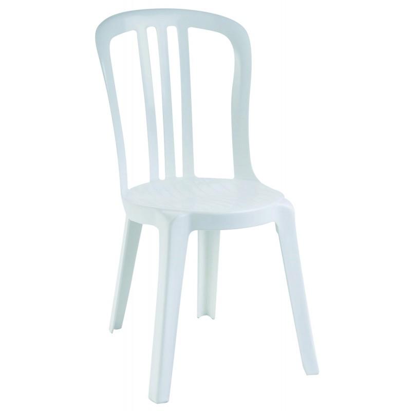 chaise blanche miami en resine empilable