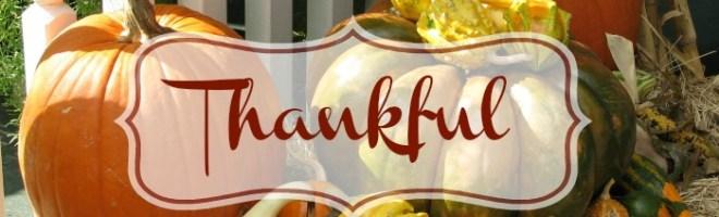 Three Reasons I'm Thankful This Thanksgiving