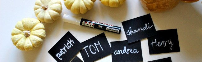 diy Thanksgiving Napkin Rings and Placecards